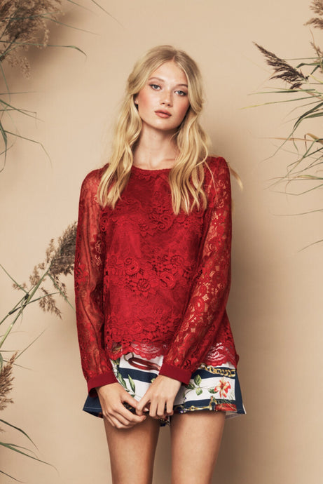 Janice Top Red