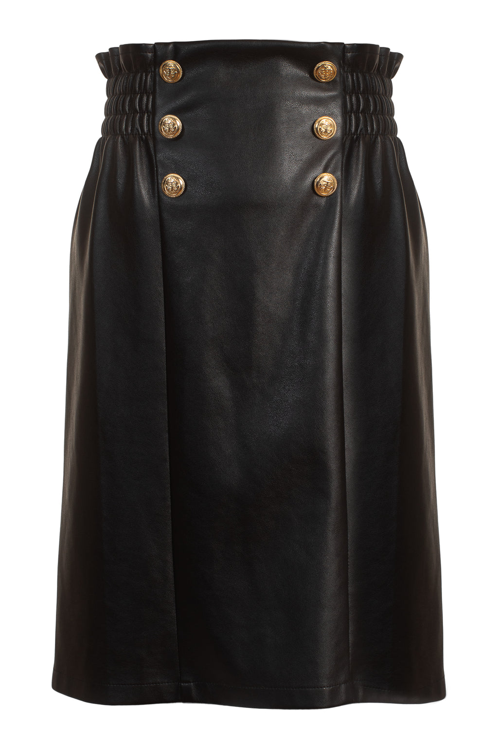 SS20 Keeley Skirt Vegan leather Black