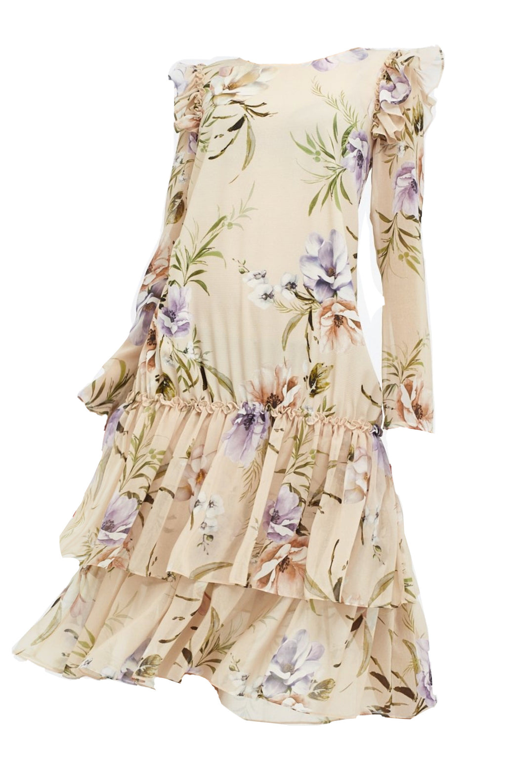 Paloma Dress Pastel Floral Print