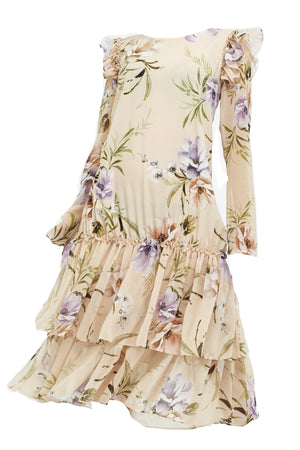 SS20 Paloma Dress Pastel Floral Print