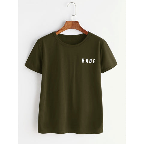 Women's Babe T-Shirt - Green