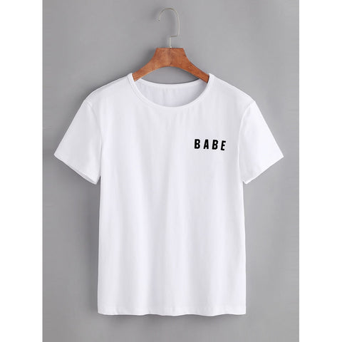 Women's Babe T-Shirt - White