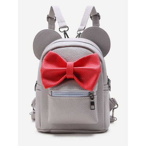 Faux Leather Mouse Backpack