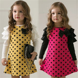 Dotted Dress with Bow