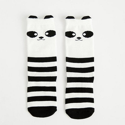 Panda Bear Knee High Animal Baby Socks