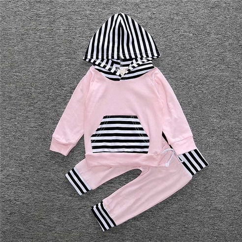 Pink Striped 2 Piece Set