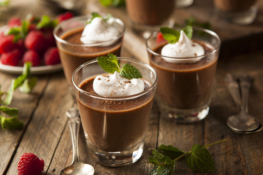 Organic Dark Chocolate Mousse : A Valentines Day Delight