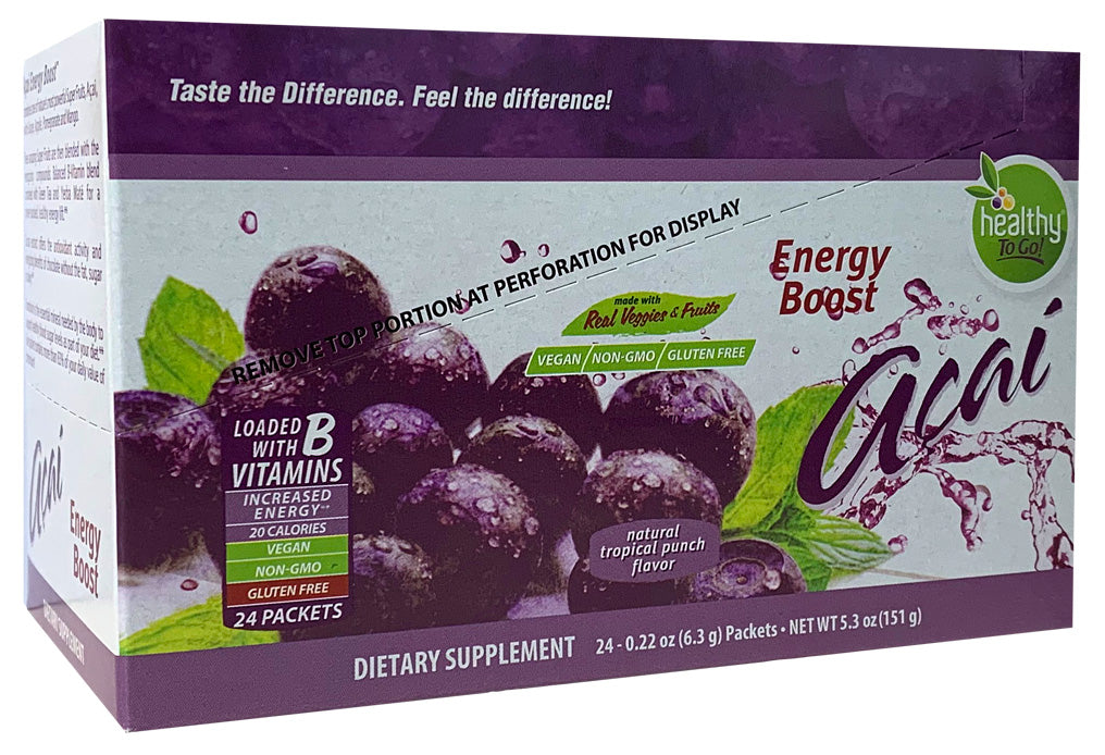 Acai Energy Boost Single Serving 24 Pack - Hudson River Foods