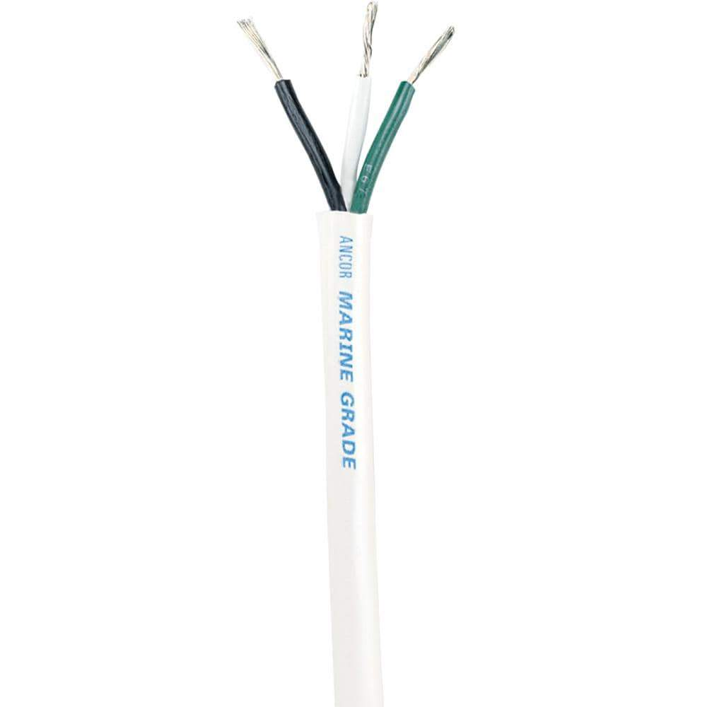 Ancor Qualifies for Free Shipping Ancor White Triplex Cable 14/3 AWG Round 100' #133510