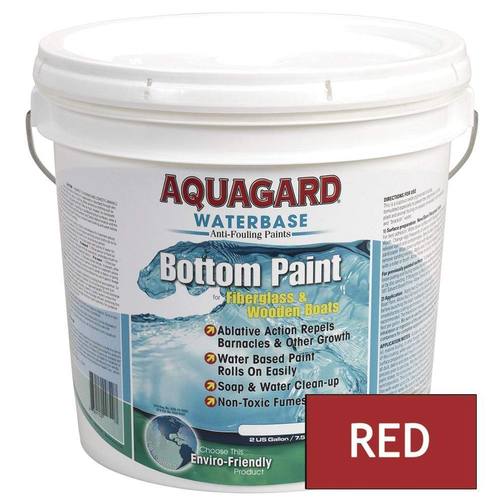 Aquagard Qualifies for Free Shipping Aquagard Waterbased Anti-Fouling Bottom Paint 2 Gallon Red #10202