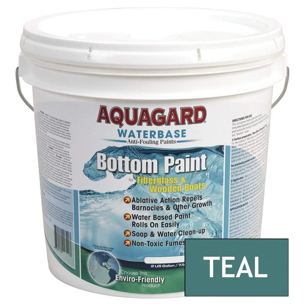 Aquagard Qualifies for Free Shipping Aquagard Waterbased Anti-Fouling Bottom Paint 2 Gallon Teal #10205