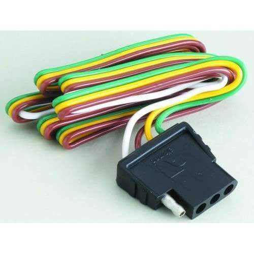 Attwood Trunk 4-Way Flat Wiring Harness/Connector #14017-3 on