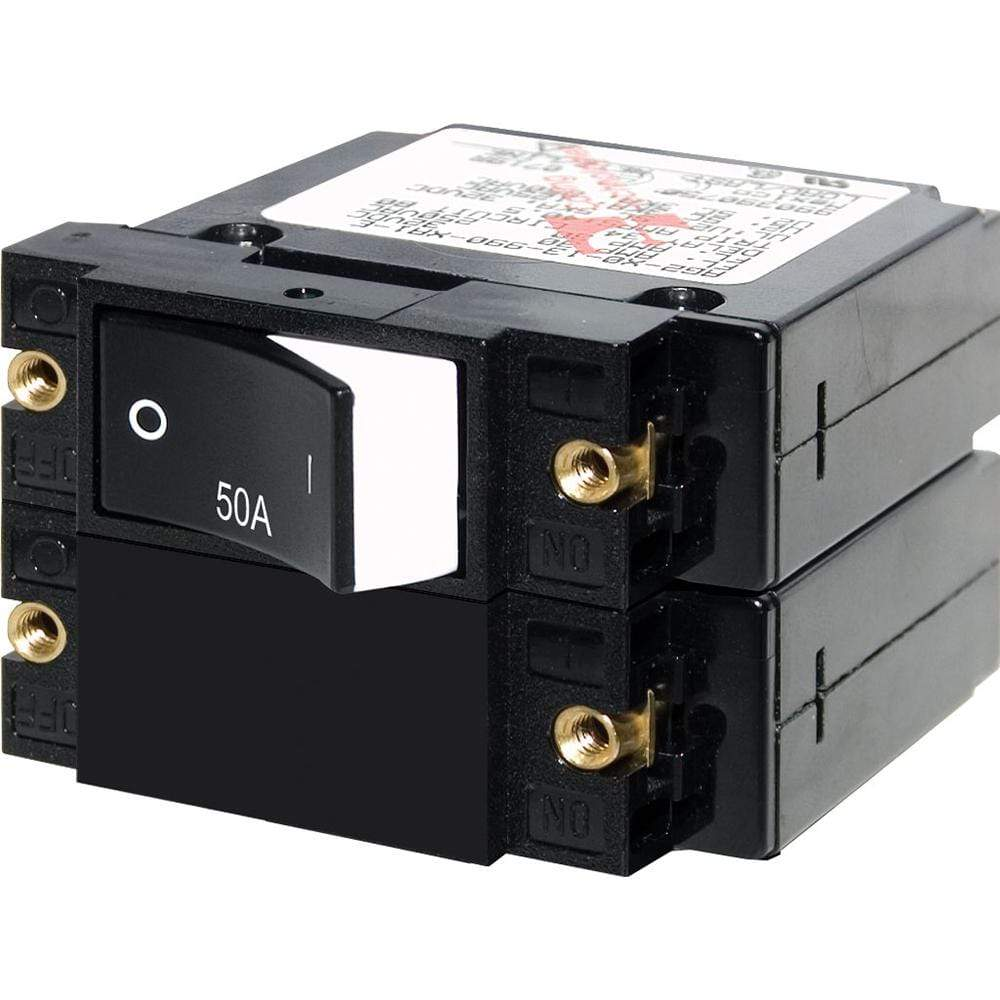 Blue Sea System Qualifies for Free Shipping Blue Sea A-Series Rocker Circuit Breaker 50a #7577