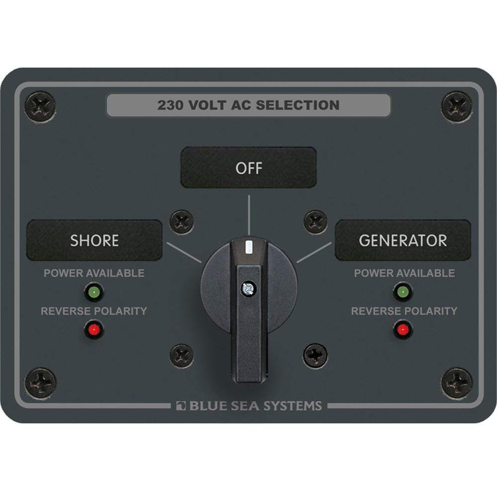 Blue Sea System Qualifies for Free Shipping Blue Sea AC Rotary Switch Panel 30a 2-Position Plus OFF 2 Pole #8359