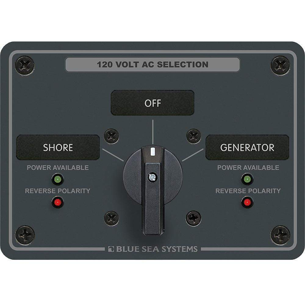 Blue Sea System Qualifies for Free Shipping Blue Sea AC Rotary Switch Panel 30a 2-Position Plus OFF 2 Pole #8367