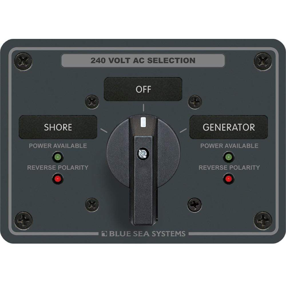 Blue Sea System Qualifies for Free Shipping Blue Sea AC Rotary Switch Panel 65a 2-Position Plus OFF 3 Pole #8363