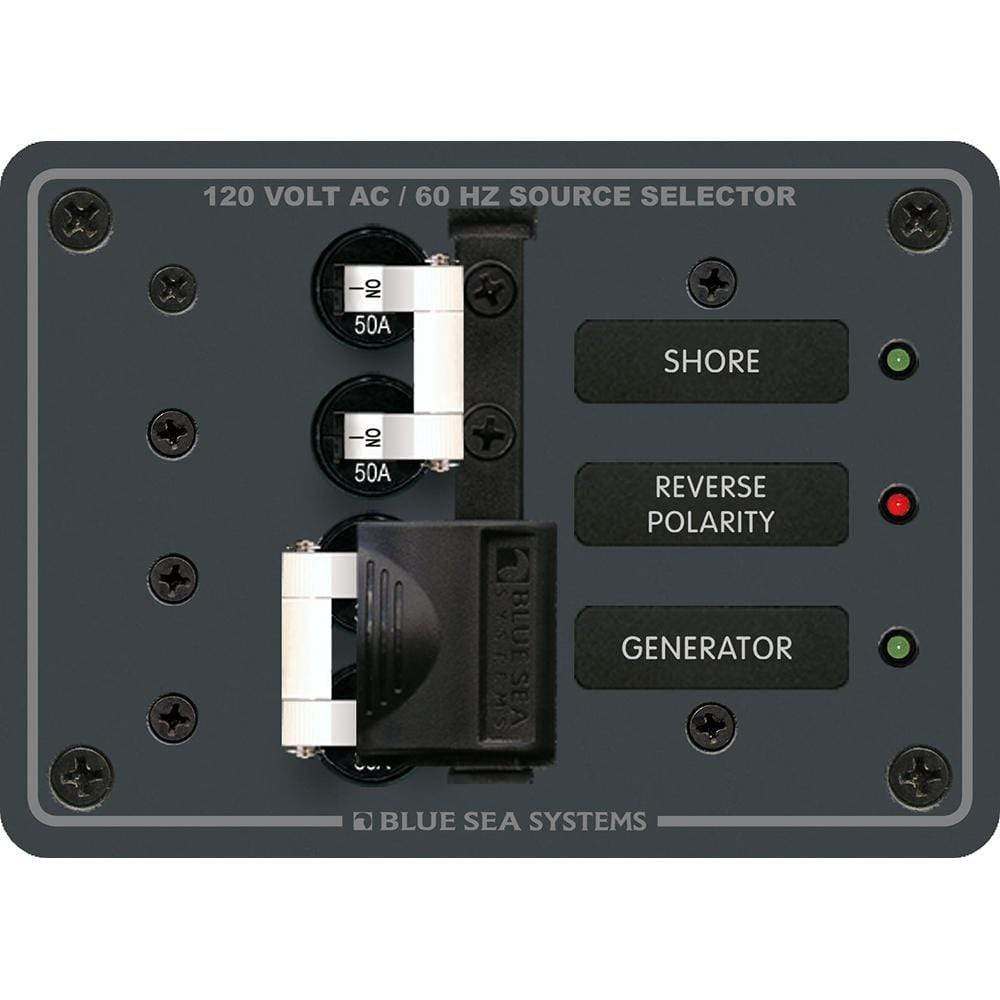 Blue Sea System Qualifies for Free Shipping Blue Sea AC Toggle Source Selector 120v AC 50a #8061