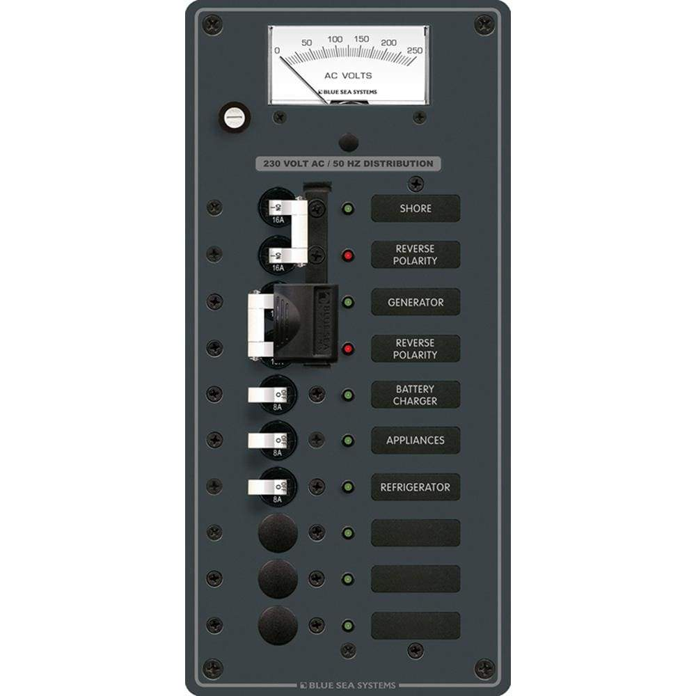 Blue Sea System Qualifies for Free Shipping Blue Sea AC Toggle Source Selector 230v 2-Sources 6-Position #8589