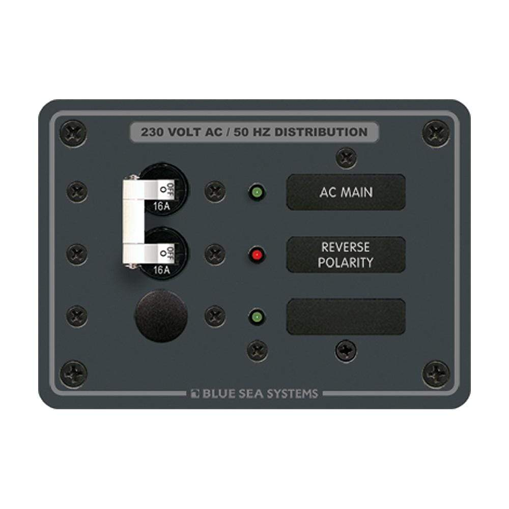 Blue Sea System Qualifies for Free Shipping Blue Sea Breaker Panel 230v AC 1-Position #8129