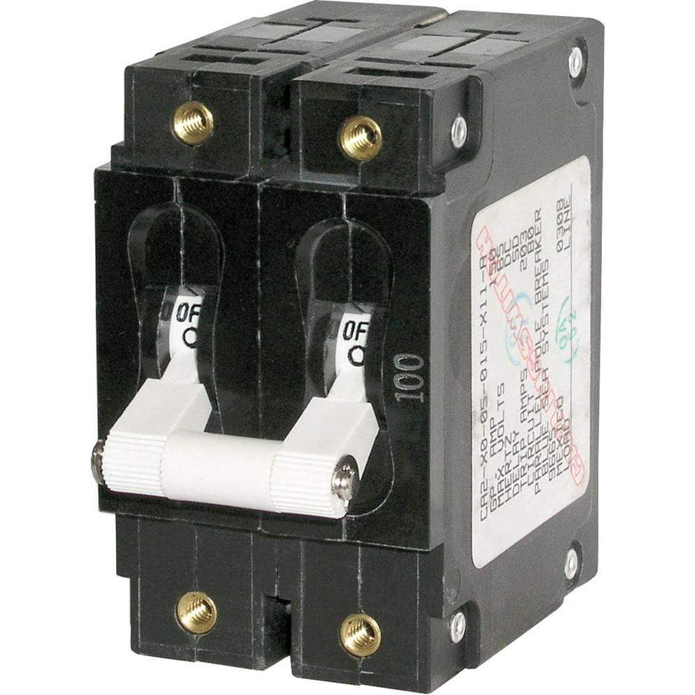 Blue Sea System Qualifies for Free Shipping Blue Sea C-Series Double-Pole Circuit Breaker 80a #7256
