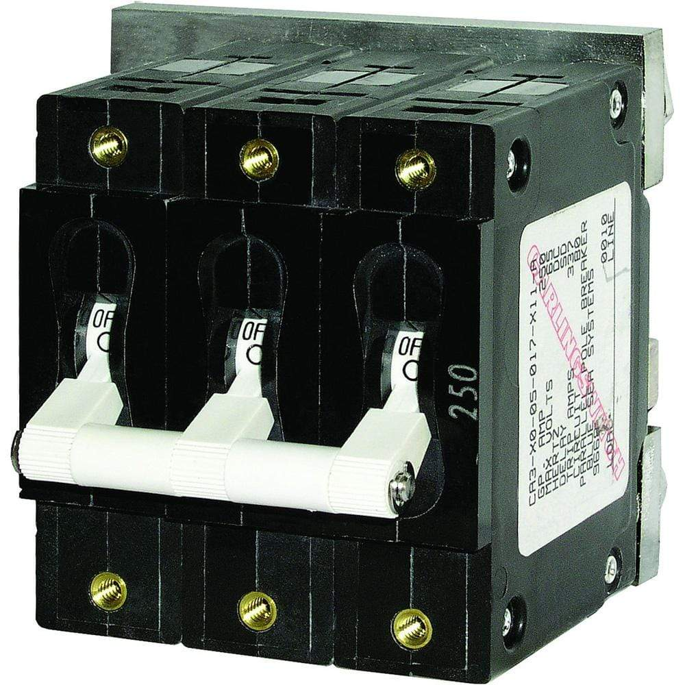 Blue Sea System Qualifies for Free Shipping Blue Sea C-Series Triple-Pole Circuit Breaker 50a #7287