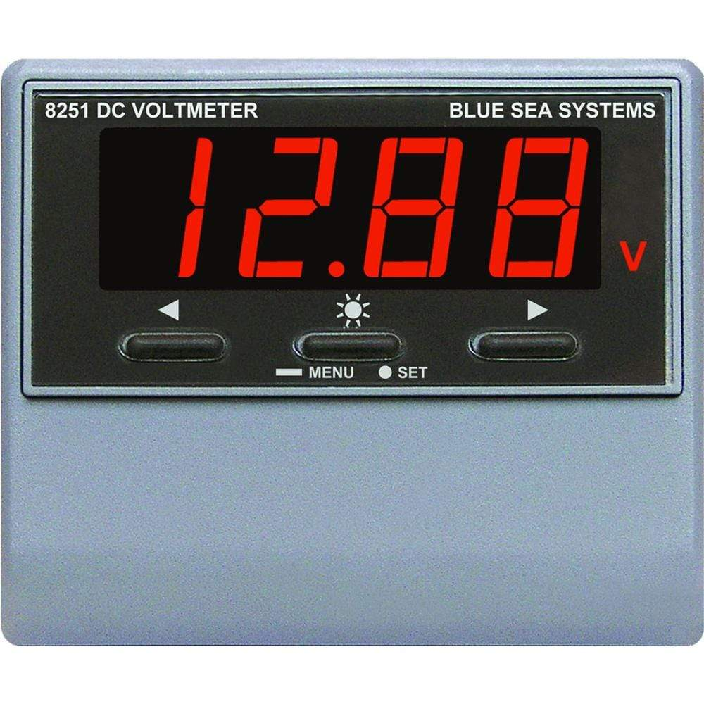 Blue Sea System Qualifies for Free Shipping Blue Sea DC Digital Voltmeter with Alarm #8251