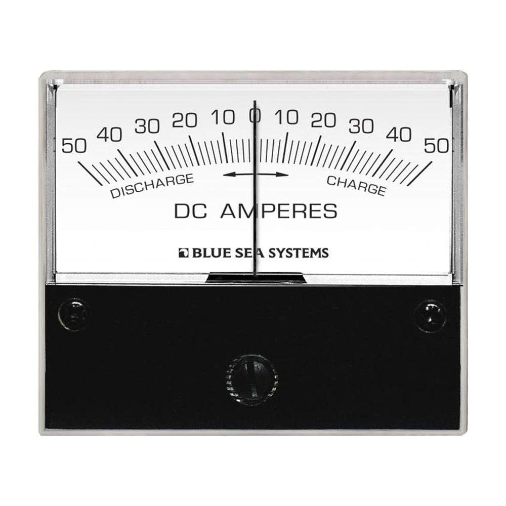 "Blue Sea System Qualifies for Free Shipping Blue Sea DC Zero Center Analog Ammeter 2-3/4"" Face 50-0-50a #8252"