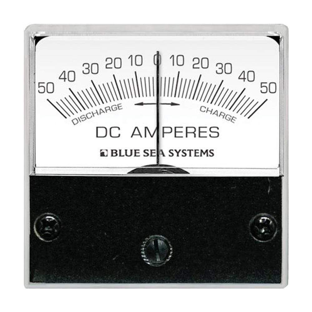 "Blue Sea System Qualifies for Free Shipping Blue Sea DC Zero Center Micro Ammeter 2"" Face 50-0-50a #8254"