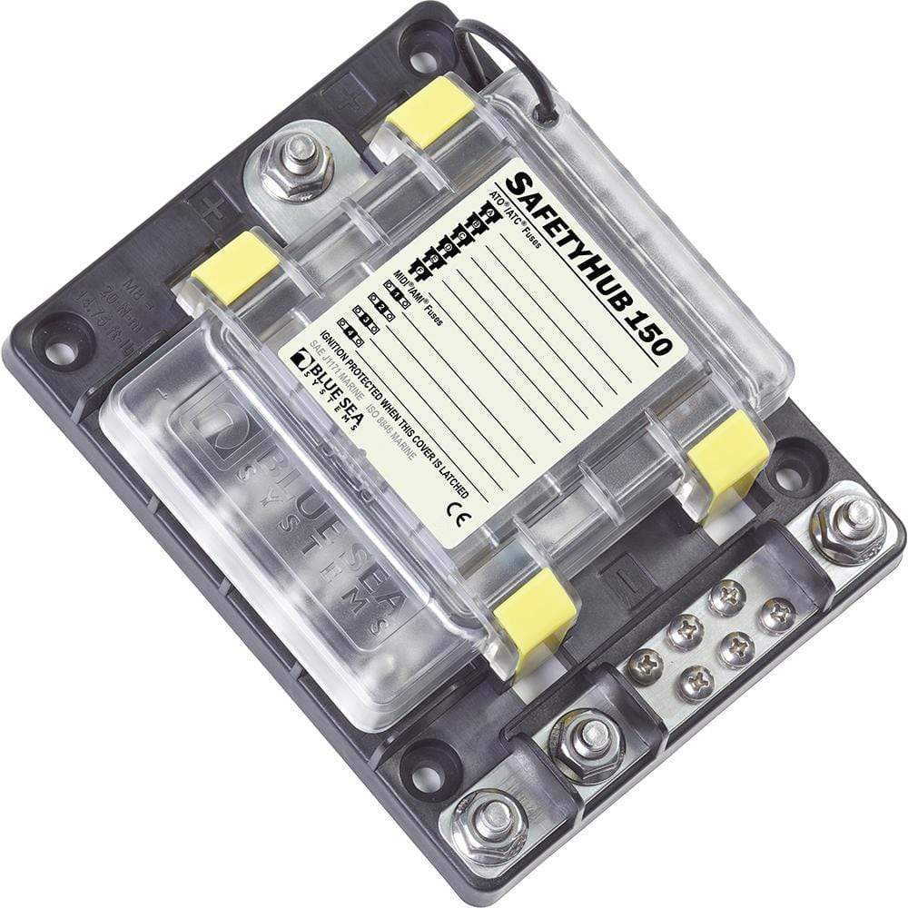 Blue Sea System Qualifies for Free Shipping Blue Sea SafetyHub 150 Fuse Box #7748