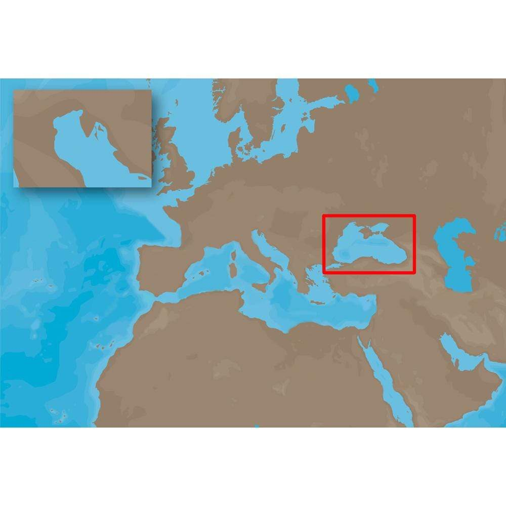 C-MAP USA Not Qualified for Free Shipping C-MAP EM-C102 C-Card Format Black Sea and Marmara #EM-C102C-CARD