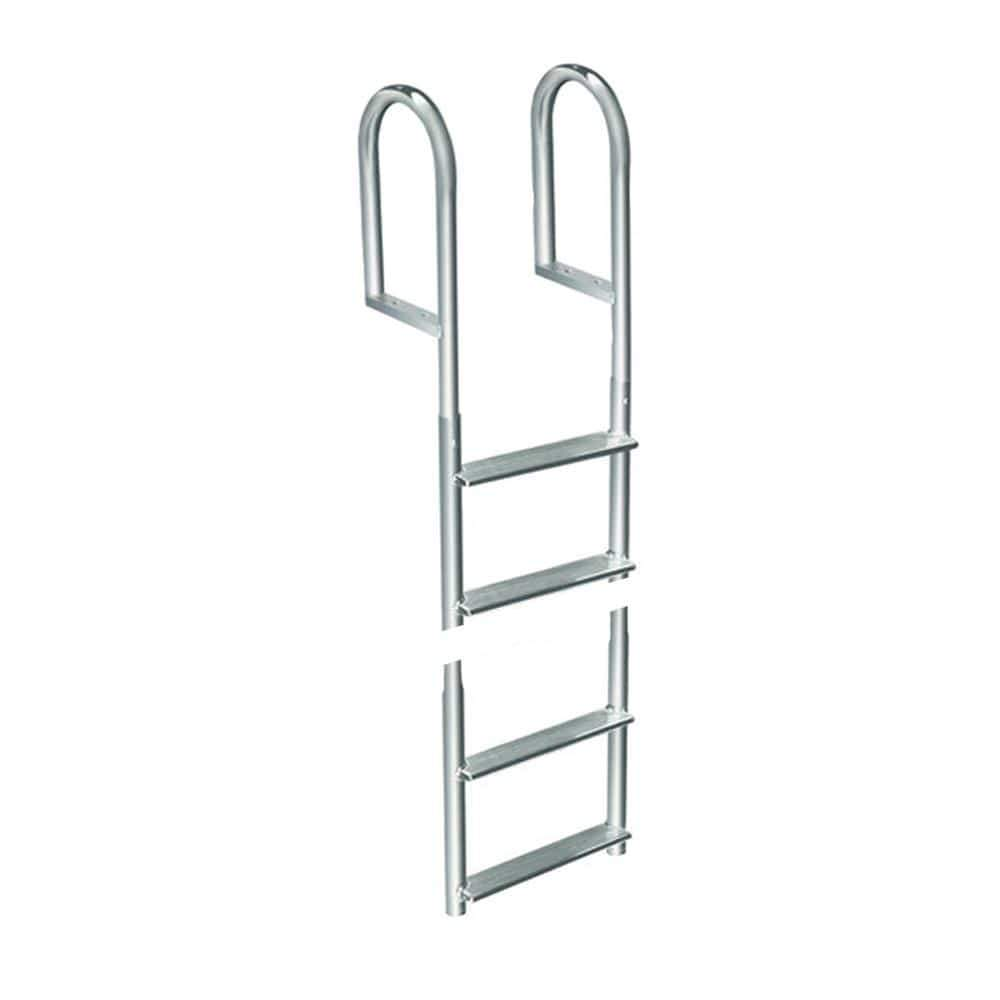 Dock Edge Qualifies for Free Shipping Dock Edge Welded Aluminum Fixed 4-Step Ladder #2014-F