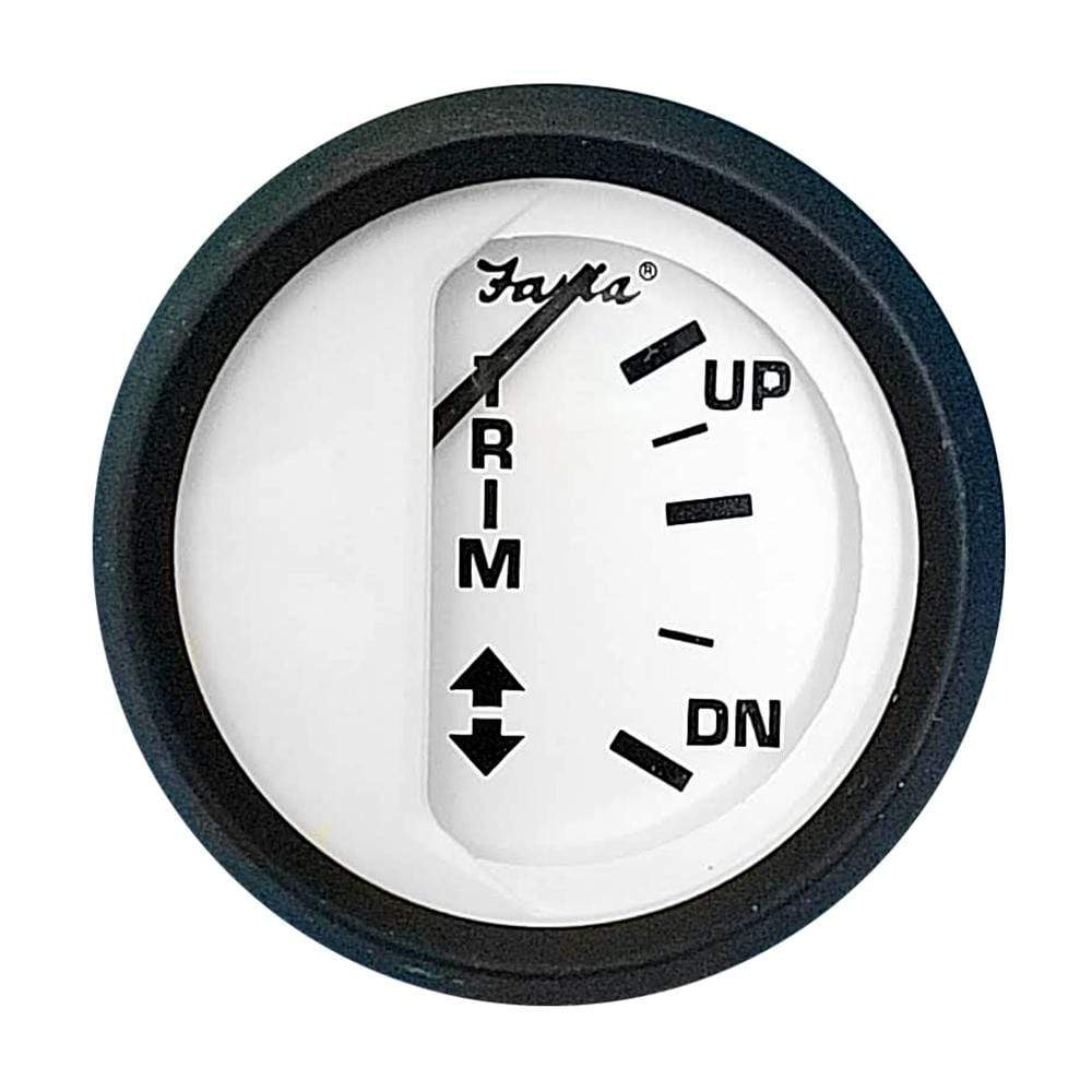 "Faria Qualifies for Free Shipping Faria 2"" Trim Gauge Euro White for Yamaha Thru 1996 #12988"