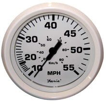 "Load image into Gallery viewer, Faria Qualifies for Free Shipping Faria Dress White 4"" Speedometer 55 MPH Mechanical #33112"