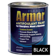 Load image into Gallery viewer, Flexdel Qualifies for Free Shipping Flexdel Armor Bottom Paint Black Quart #13001