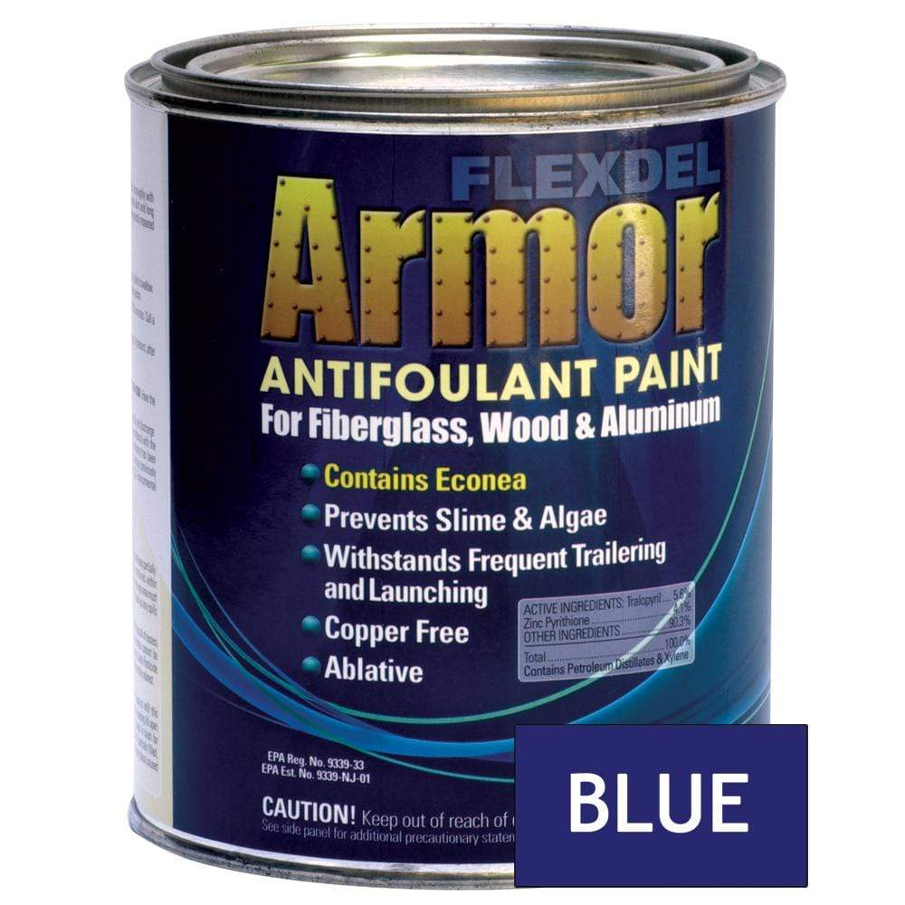 Flexdel Armor Bottom Paint Blue Quart #13003