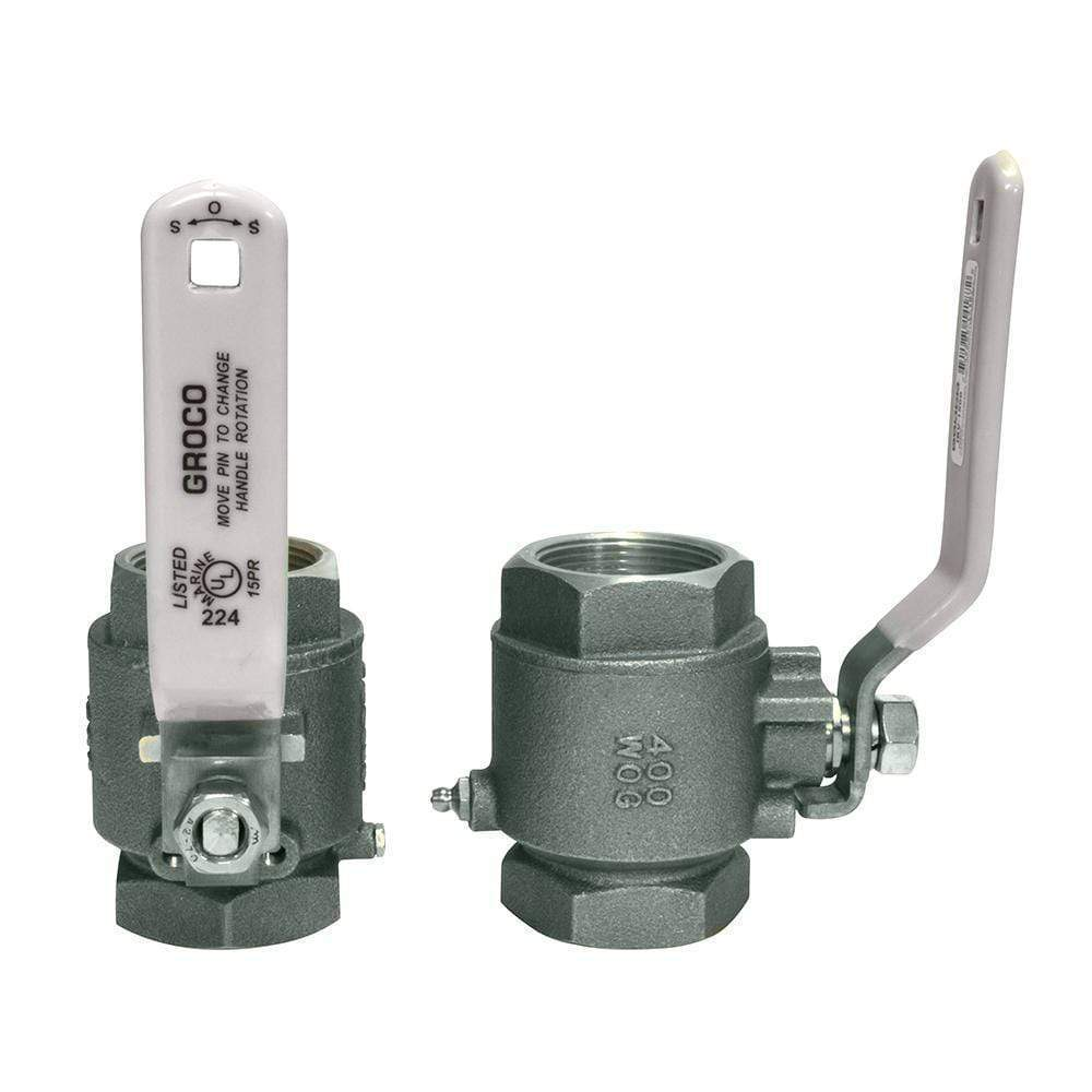 "GROCO Qualifies for Free Shipping GROCO 3/4"" NPT Stainless Inline Ball Valve #IBV-750-S"