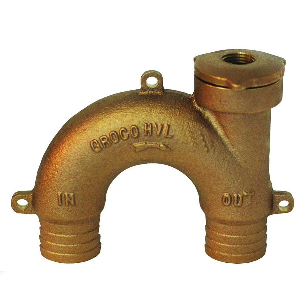 "GROCO Qualifies for Free Shipping GROCO Bronze Vented Loop for 1-1/2"" Hose #HVL-1500"