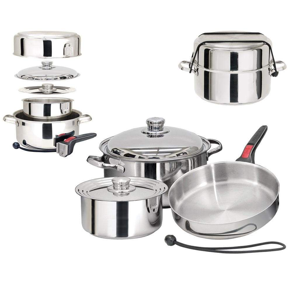 Magma Products Qualifies for Free Shipping Magma Nestable 7-pc SS Starter Cookware Set #A10-362