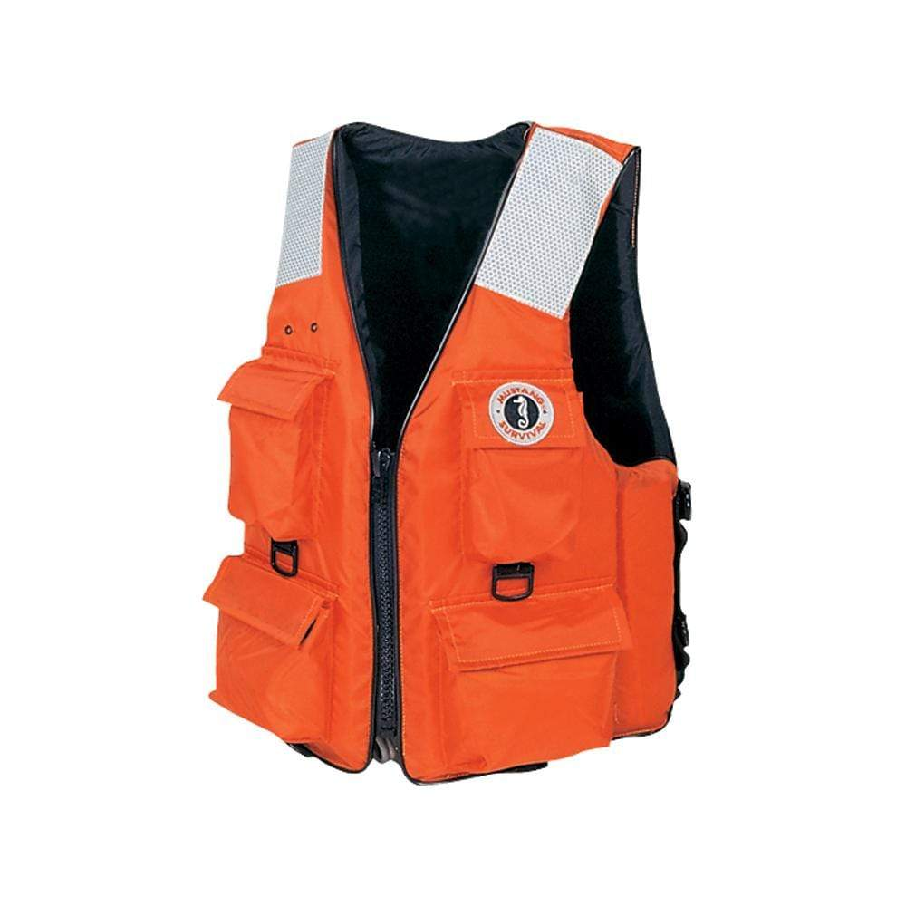 Mustang Survival Qualifies for Free Shipping Mustang 4-Pocket Flotation Vest MED #MV3128T2-M-OR