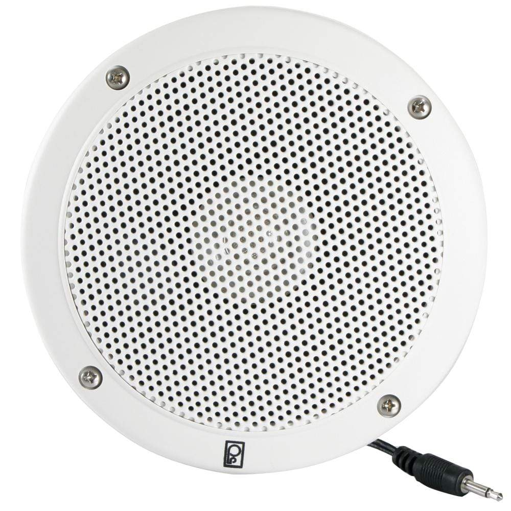 "Poly-Planar 5"" VHF Extension Speaker Flush-Mount Each White #MA1000RW"