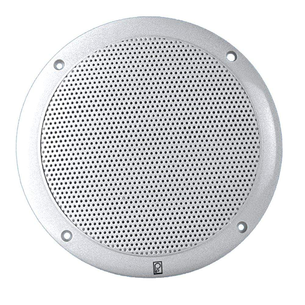 "Polyplanar Qualifies for Free Shipping Poly-Planar 6"" Dual-Cone Integral Grill Speaker Pr White #MA4600"