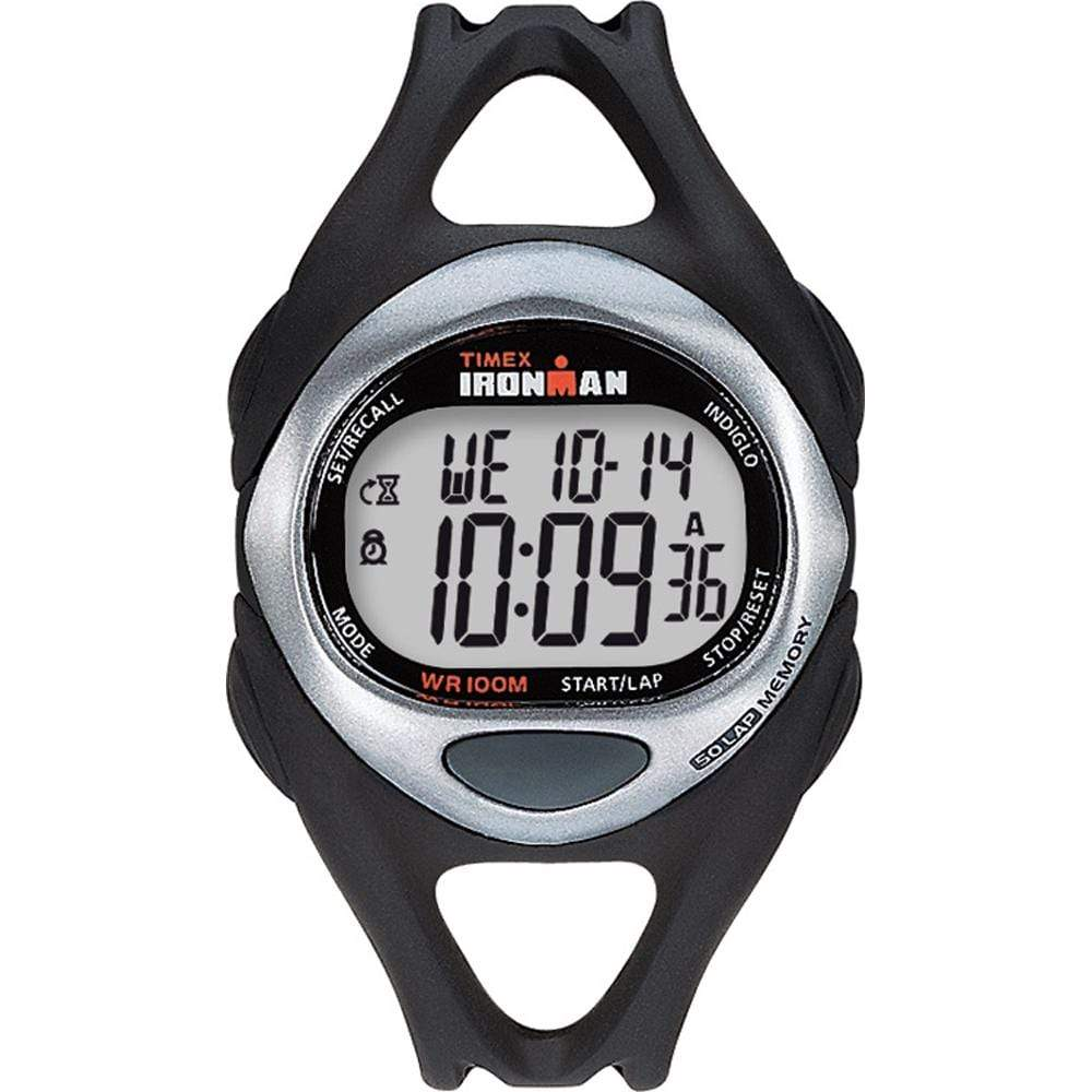 Timex Qualifies for Free Shipping Timex Ironman Triathlon 50-Lap Full Size Black/Stainless #T54281