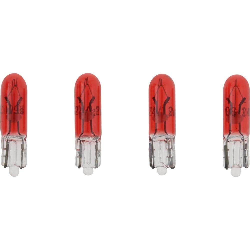 VDO Qualifies for Free Shipping VDO Type D Wedge Based Peanut Bulb Red 24v 1.2w 4-pk #600-822