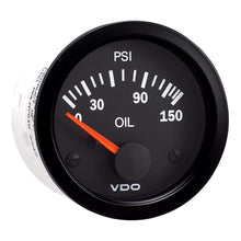 Load image into Gallery viewer, VDO Qualifies for Free Shipping VDO Vision Black 150 PSI Oil Pressure Gauge Use with VDO #350-108