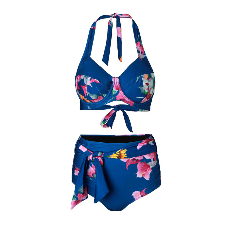 LUCIA 'Fleur' Bikini Bottoms with Waist Tie