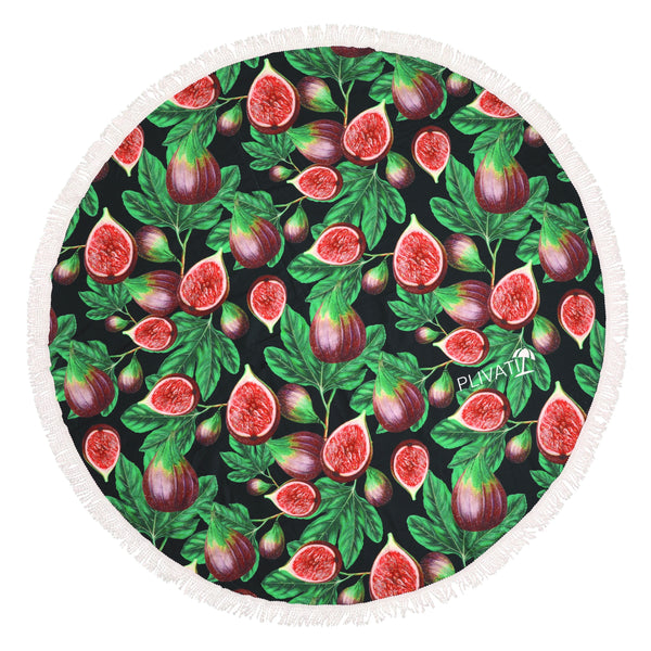 PLIVATI 'Figs' Round Beach Towel
