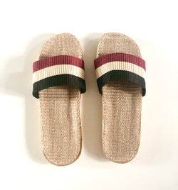 Multi UNISEX - Beach/House Casual Rattan Linen Slides