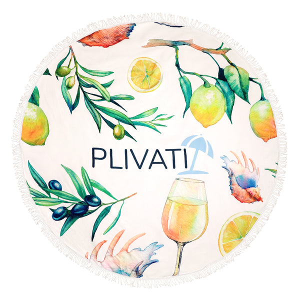 PLIVATI 'Adriatic' Round Beach Towel