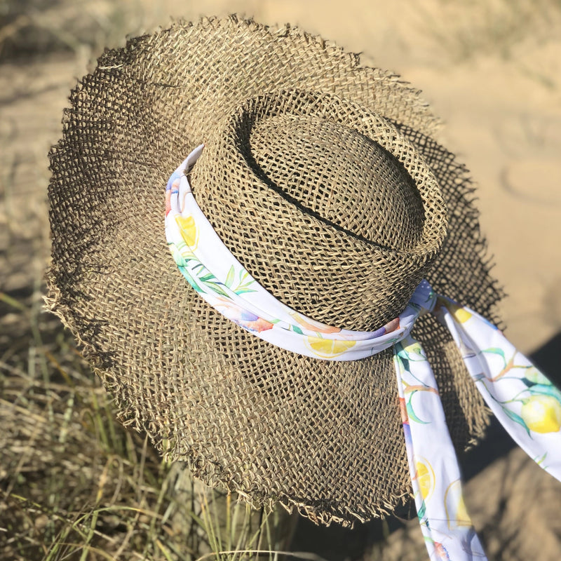 Ladies Sea-Grass Sun Hat PRE ORDER - PLIVATI Swimwear Accessories
