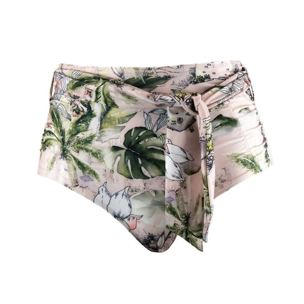 LUCIA 'Selo' High Waist Bikini Bottoms with Removable Waist Tie